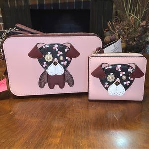 Kate Spade Floral Pup Crossbody & Wallet NWT